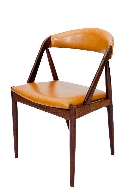 Danish Set of Six Rosewood Kai Kristiansen Chairs For Sale