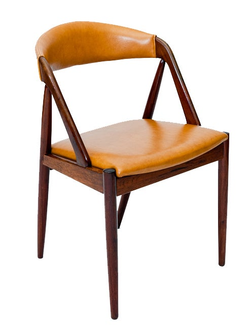 Set of Six Rosewood Kai Kristiansen Chairs In Excellent Condition For Sale In Los Angeles, CA