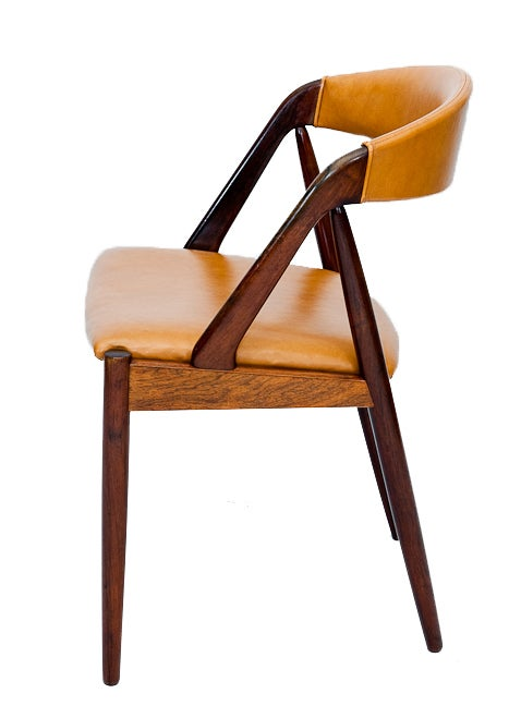 Mid-20th Century Set of Six Rosewood Kai Kristiansen Chairs For Sale