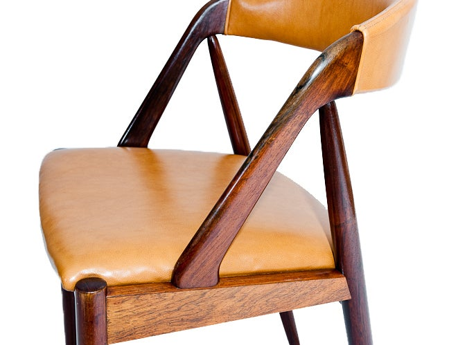 Set of Six Rosewood Kai Kristiansen Chairs For Sale 1