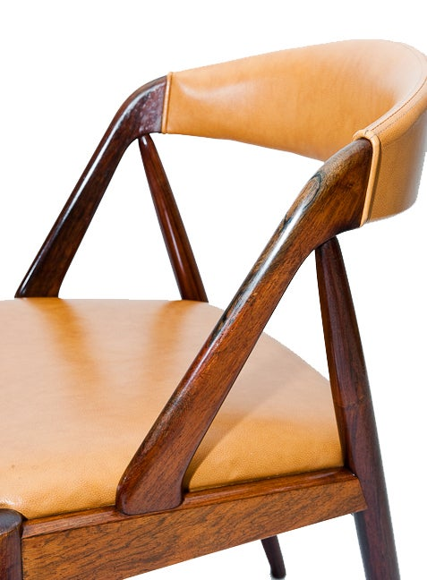 Set of Six Rosewood Kai Kristiansen Chairs For Sale 2