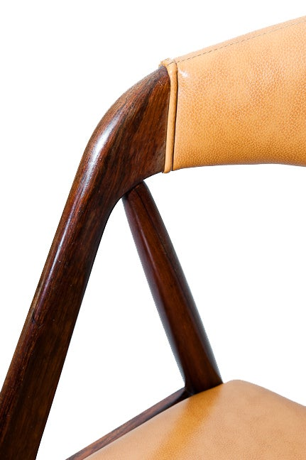 Set of Six Rosewood Kai Kristiansen Chairs For Sale 3