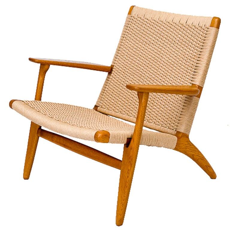 Hans Wegner CH 25 Lounge Chair at 1stdibs