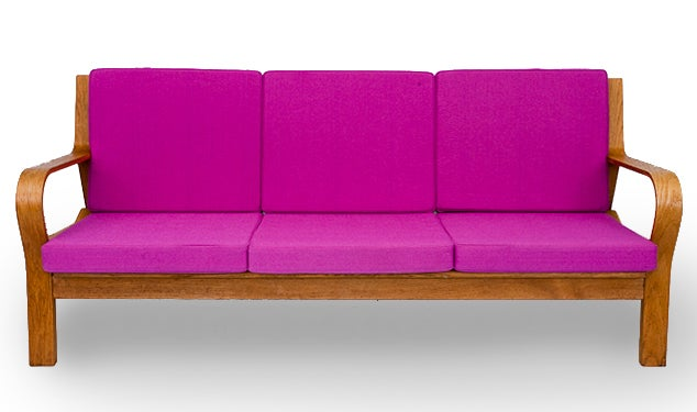 Hans Wegner GE-671 sofa designed in 1967 and produced by Getama.   Store formerly known as ARTFUL DODGER INC