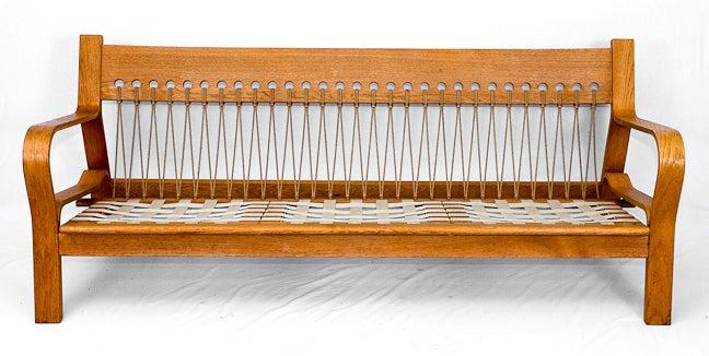 Mid-20th Century Hans Wegner GE-671 Sofa For Sale