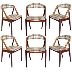 Set Of 6 Rosewood Kai Kristiansen Dining Chairs