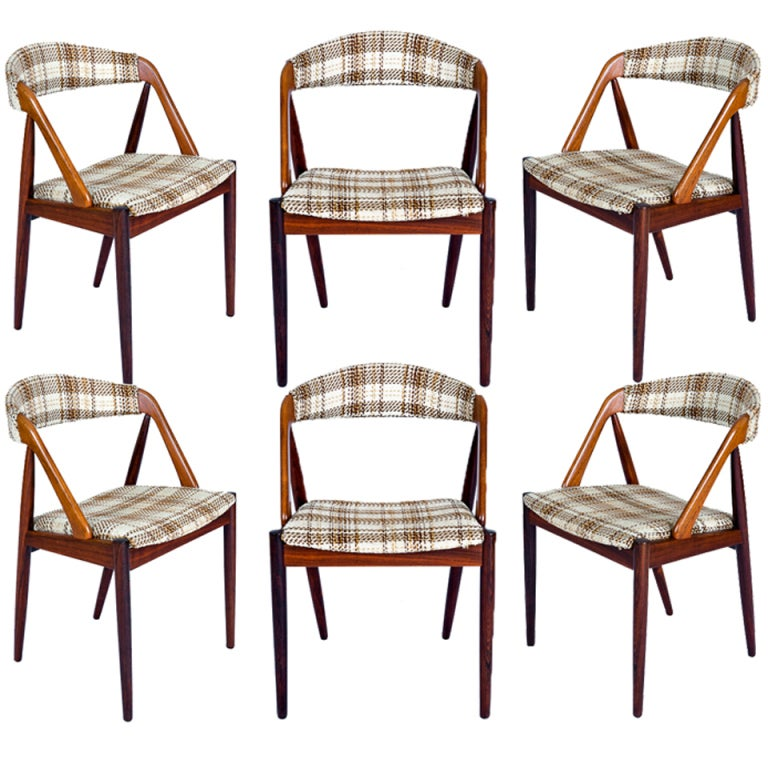 Set Of 6 Rosewood Kai Kristiansen Dining Chairs 1