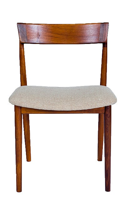 Set of 4 Rosewood Rosengren Hansen Dining Chairs Designed in 1960 and Produced by Brande Mobelfabrik.  Store formerly known as ARTFUL DODGER INC