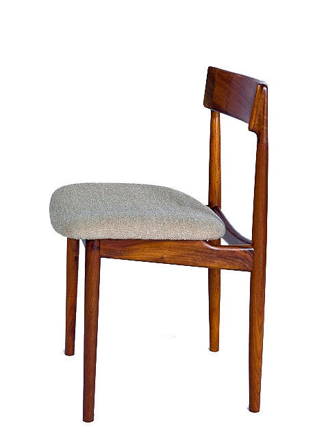 SET of 4 ROSEWOOD ROSENGREN HANSEN DINING CHAIRS In Excellent Condition For Sale In Los Angeles, CA