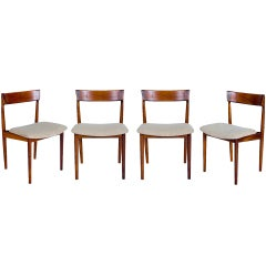 SET of 4 ROSEWOOD ROSENGREN HANSEN DINING CHAIRS