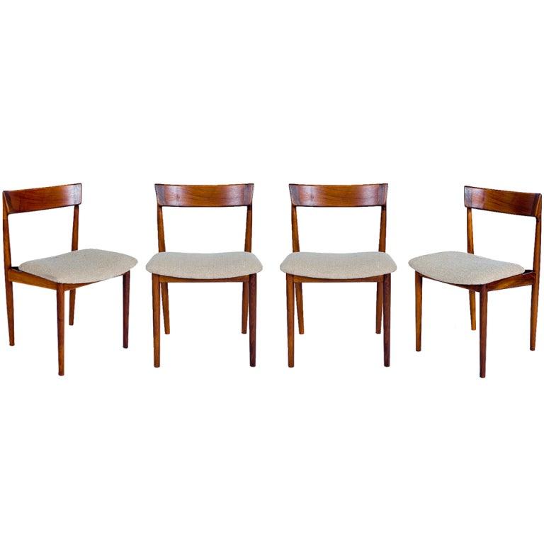 SET of 4 ROSEWOOD ROSENGREN HANSEN DINING CHAIRS For Sale