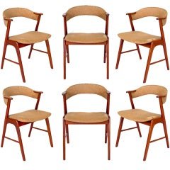 Set Of 6 Kai Kristiansen Dining Chairs