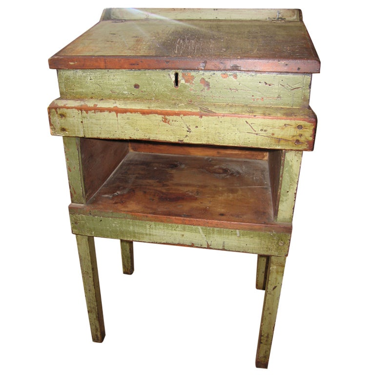 Primitive Painted Tall Desk at 1stdibs
