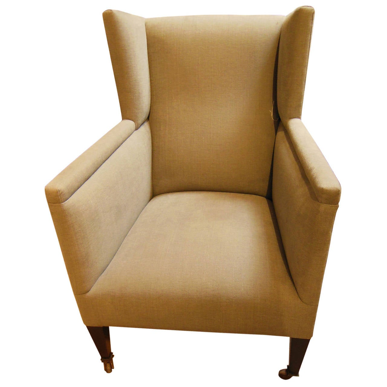 Small vintage modern wing chair at 1stdibs for Small contemporary armchairs