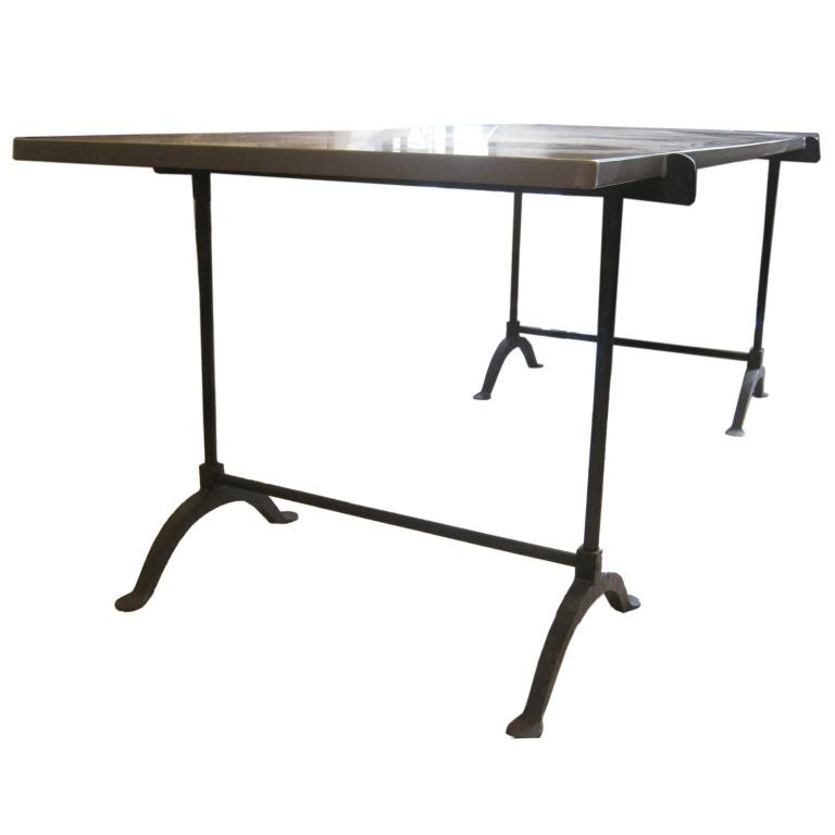 quartz and iron table at 1stdibs. Black Bedroom Furniture Sets. Home Design Ideas