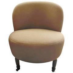 Edwardian Slipper Chair in Belgian Linen