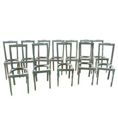 Set of 12 Vintage Dining Chairs