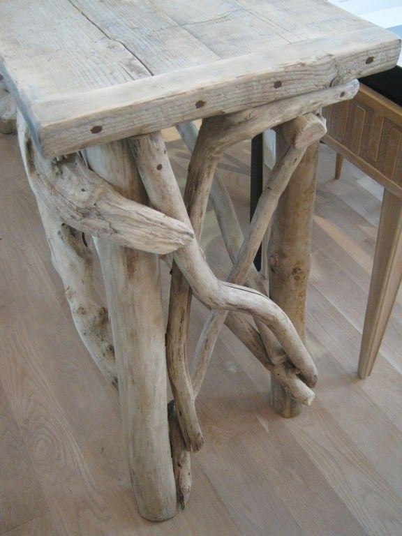 Handsome Bleached Driftwood Console Table For Sale At 1stdibs