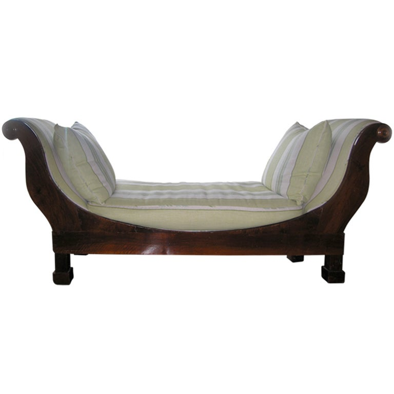 Grand empire chaise at 1stdibs for Chaise longue montreal