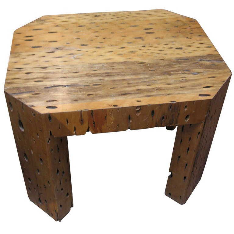 Unusual cactus wood side table at 1stdibs for Unusual tables