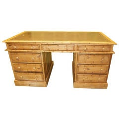 Faux Bamboo Vintage Desk