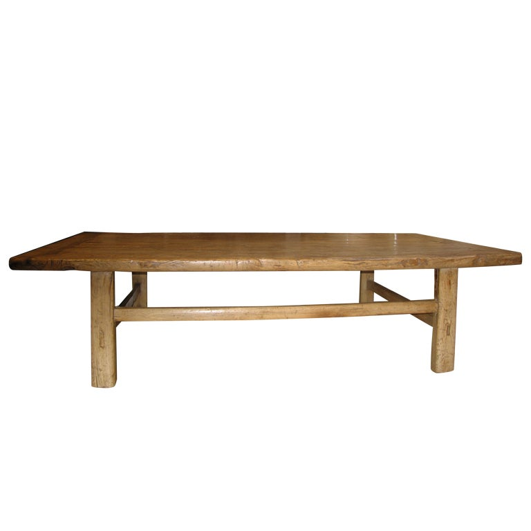 Large Rustic Coffee Table At 1stdibs