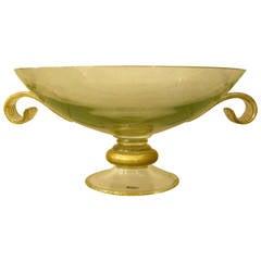 Mid-Century Italian Large Murano Glass Center Bowl by Seguso