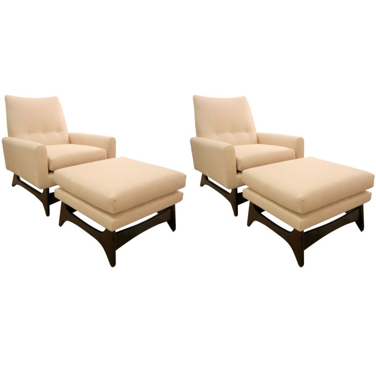 armchairs with ottomans 2