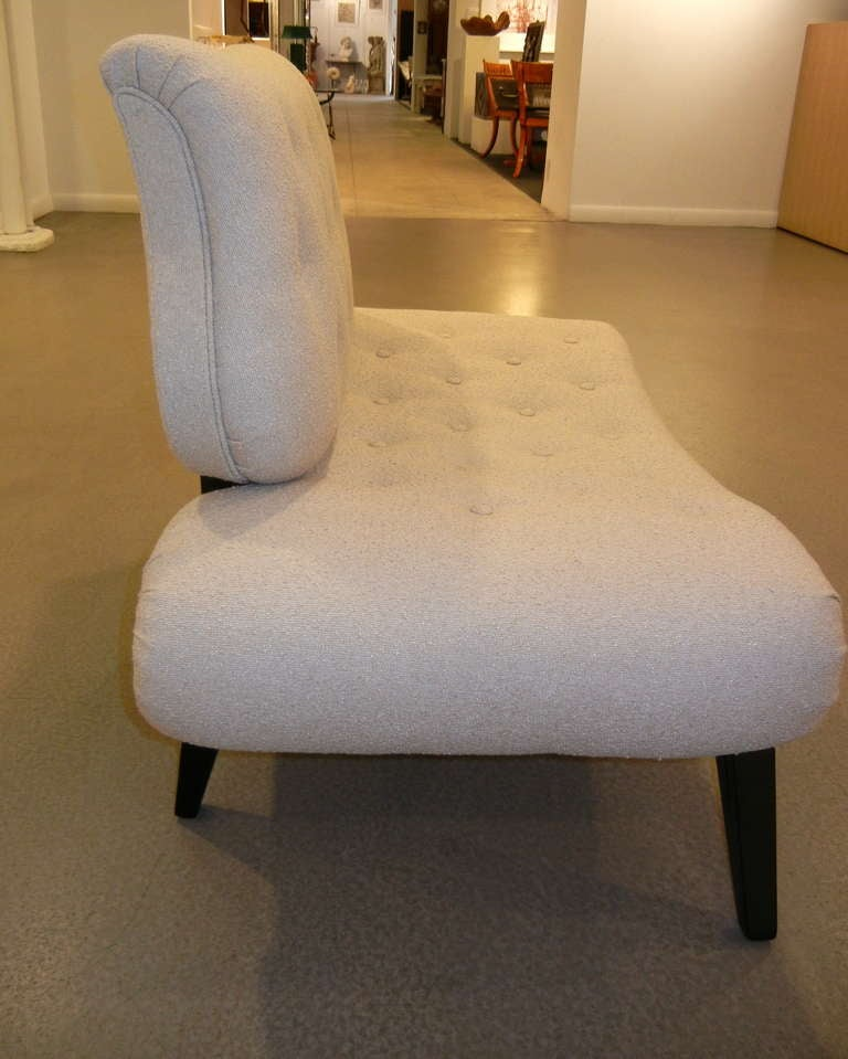 Pair of Mid-Century Grosfeld House Slipper Chairs/Settees In Excellent Condition For Sale In New York, NY