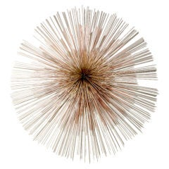 Signed Curtis Jere Mutl-Toned Starburst Metal Wall Sculpture