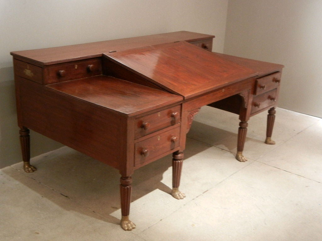 Architects Desk 19th century british colonial / anglo-indian architects desk for