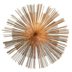 Signed Curtis Jere Multi-Toned Starburst Metal Wall Sculpture