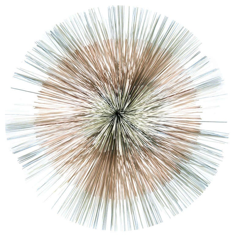 signed curtis jere multi toned metal starburst wall sculpture at 1stdibs. Black Bedroom Furniture Sets. Home Design Ideas