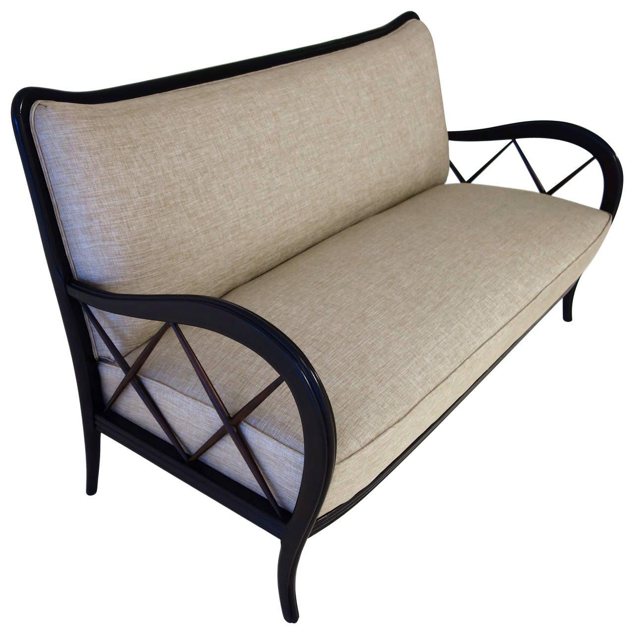 Italian Mid-Century Paolo Buffa Style Settee