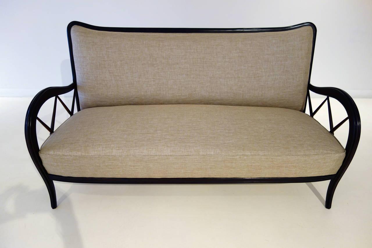 Italian Mid-Century Paolo Buffa Style Settee 3