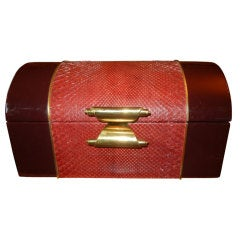 Mid-Century Italian Python And Leather Springer Style Box