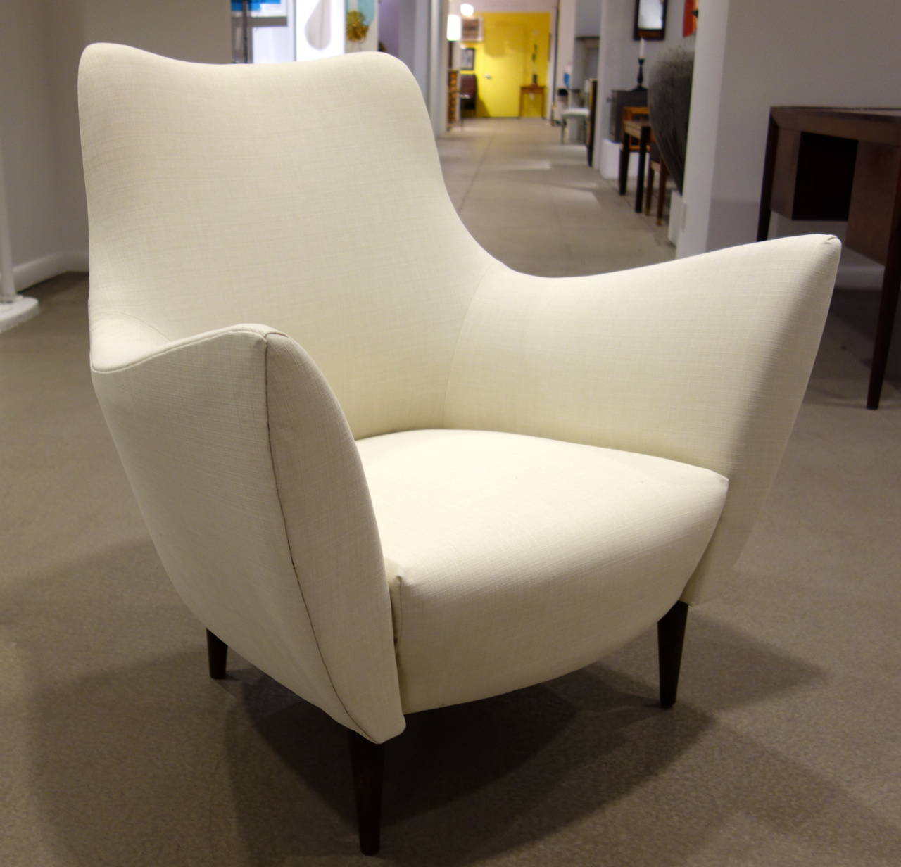 Pair Of Mid-Century Style Sculptural Italian Lounge Chairs