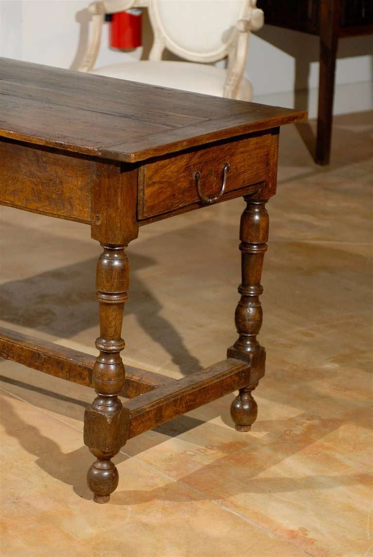 1760s french louis xiii style oak table with turned legs. Black Bedroom Furniture Sets. Home Design Ideas