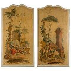 Large Pair of Paintings in the Style of Boucher