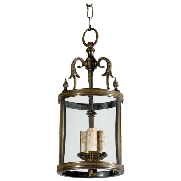 Bronze Louis XVI Style Lantern