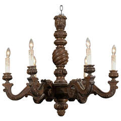 French Walnut Chandelier
