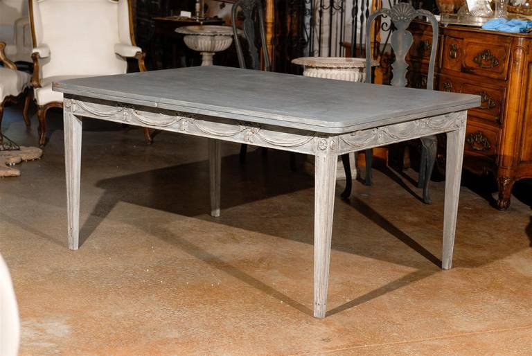 Swedish draw leaf table at 1stdibs for Dining room tables 38 inches wide