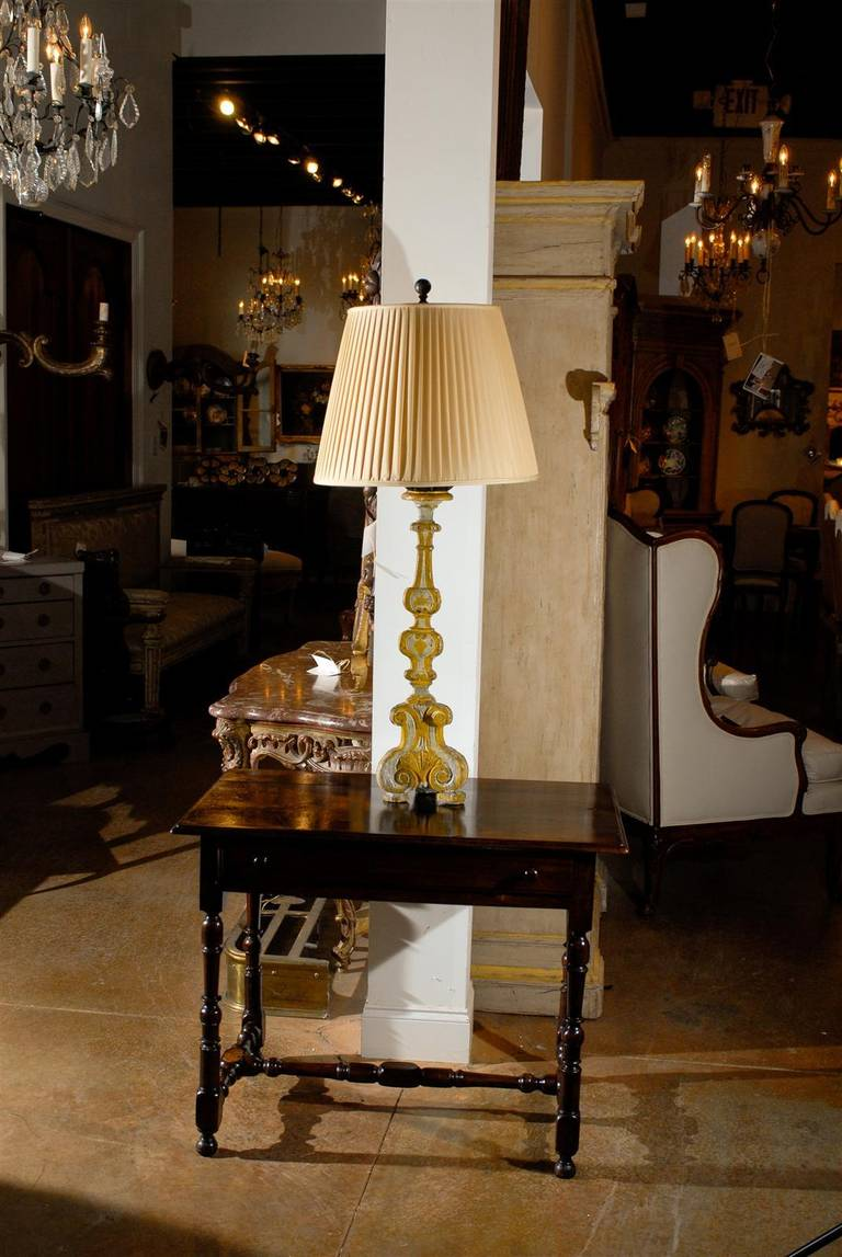 19th Century French Candlestick Lamp In Excellent Condition For Sale In  Atlanta, GA