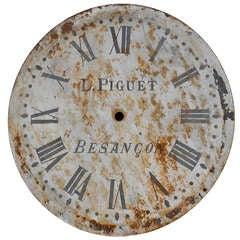 19th Century Metal Clock Face