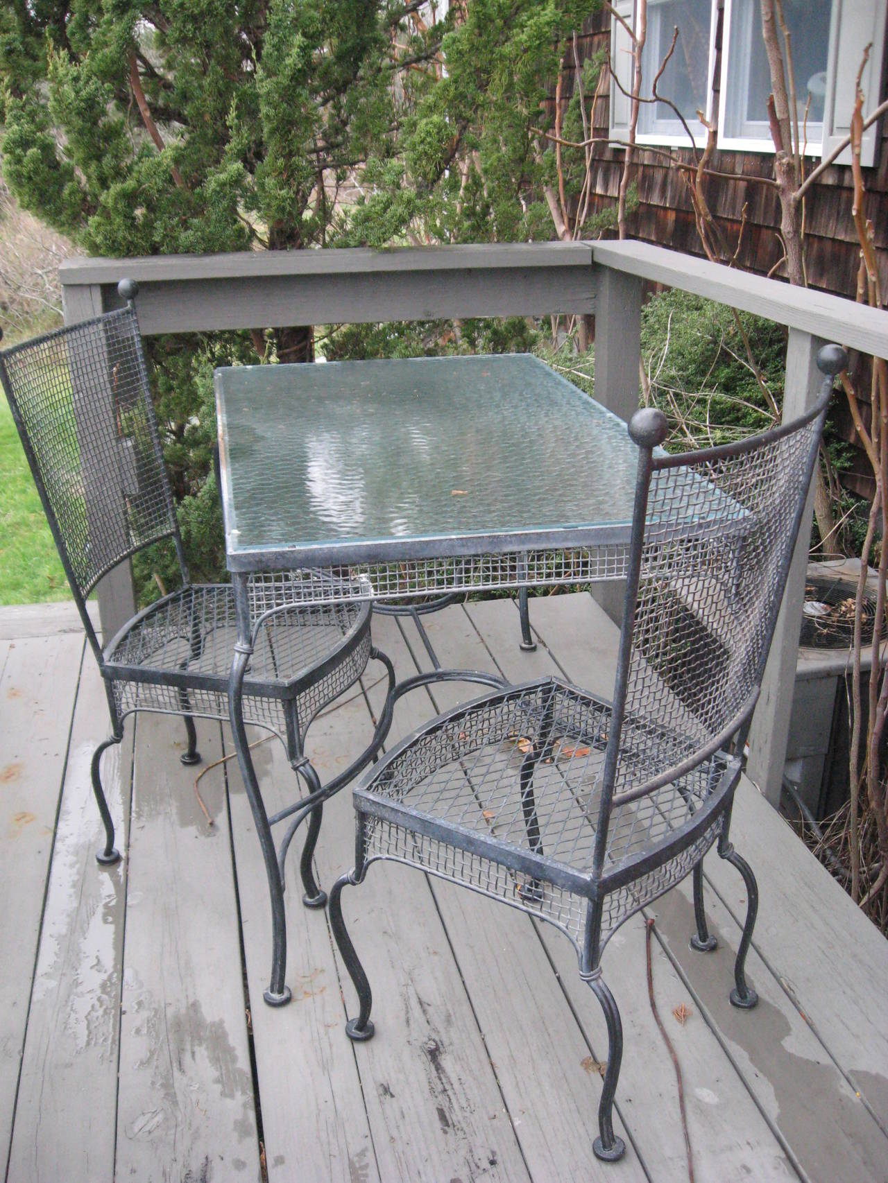 Mid-Century Pair of Russell Woodard Iron Lounge Chairs For Sale 2