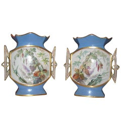 Pair of Continental Porcelain Vases, 19th Century