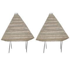 Pr. of Vintage Isam Noguchi Lamps