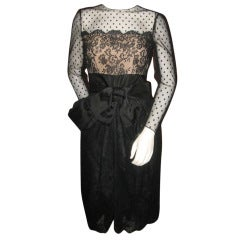 Bill Blass Vintage Little Black Lace Dress
