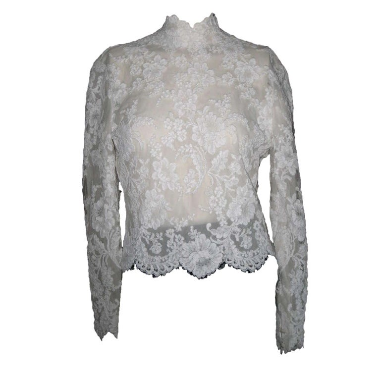 Bill Blass Vintage Lace Blouse