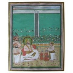 Set of Seven 19th Century Indian Miniature Paintings